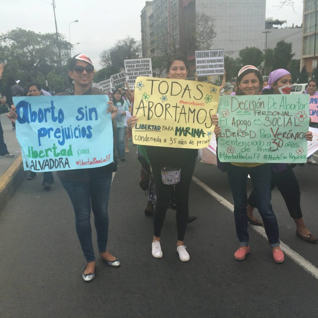 Photo 3 - SRR activists at the Feminist Encuentro, Lima, Peru