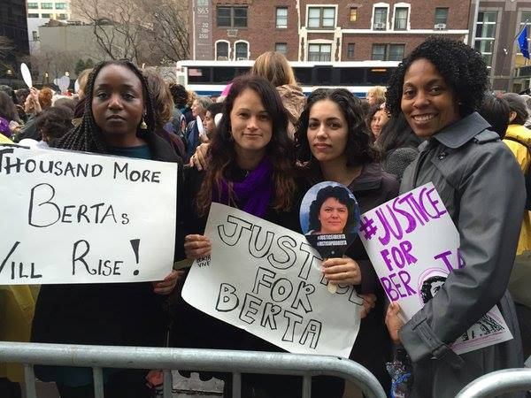 Members of FRIDA community and beyond join the #JusticeforBerta rally in New York City