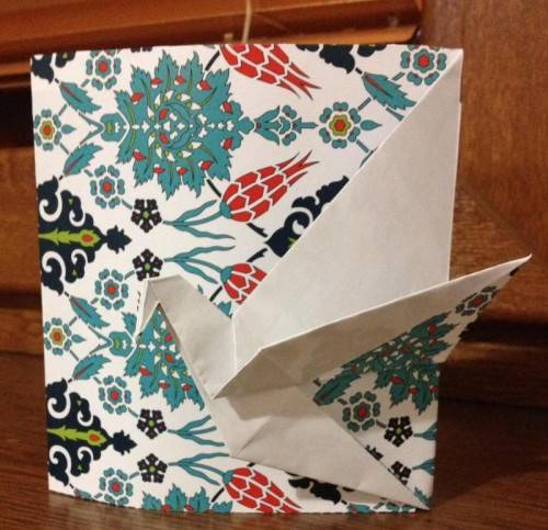Handmade origami cards that were sent as a thank you to all donors who donated $32 and above