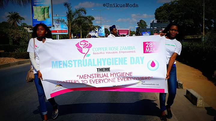 "Later that month, the group held a public walk with the theme ""Menstrual Hygiene matters to everyone everywhere""."